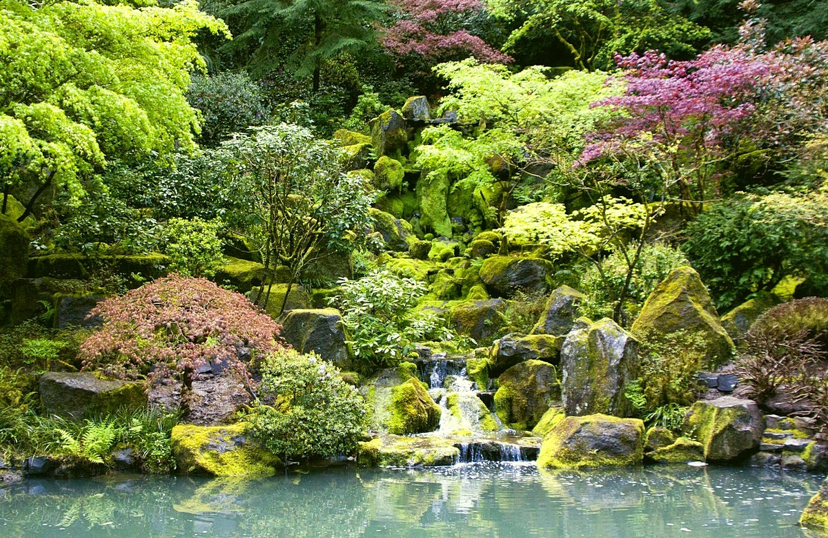 Japanese Garden Waterfall (53)