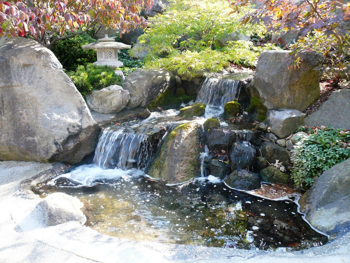 Japanese Garden Waterfall (66)